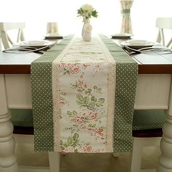 Französisch rustikalen Tischläufer/ Dot Nähen Tuch Blumen/Tischdecke ...