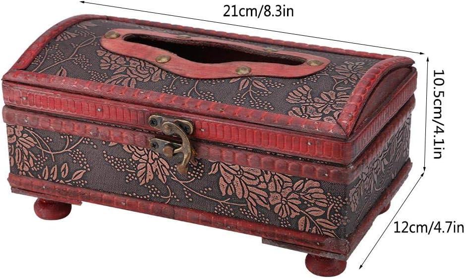 Retro Lock Schnalle Typ Handwerk Tissue Box Tissue Box Cover Holder Wohnzimmer Dekoration im europ/äischen Stil Tissue Box Ginyia Tissue Box