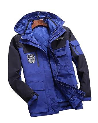8b377cd86bb0f Softshelljacke Herren Damen 3 in 1 Jacke Winter Doppeljacke Wasserdicht  Atmungsaktiv Outdoor Funktionsjacke Skijacke: Amazon.de: Bekleidung