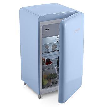 Klarstein PopArt Blue • nevera • refrigerador • diseño retro • 108 l • congelador de