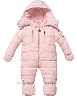 5f86873cd Amazon.com  Bebone Newborn Baby Hooded Winter Puffer Snowsuit with ...