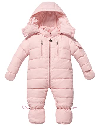 ad7dcaa22 ZOEREA Infant Newborn Baby Hoodie Down Jacket Jumpsuit Pram Snuggly Snow  Suit