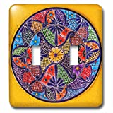 3dRose lsp_278312_2 Colorful Ceramic Mexican Plate, Guanajuato, Mexico Toggle Switch, Mixed