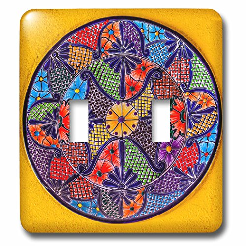 3dRose lsp_278312_2 Colorful Ceramic Mexican Plate, Guanajuato, Mexico Toggle Switch, Mixed - Ceramic Outlet