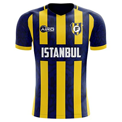 4ba2a5327d3 Image Unavailable. Image not available for. Color  Airo Sportswear  2019-2020 Fenerbahce Home Concept Football Soccer T-Shirt Jersey