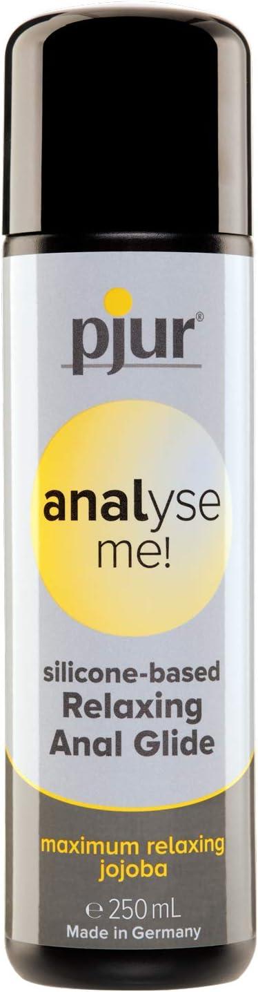 pjur analyse me! Relaxing Silicone Anal Glide - Lubricante silicona para sexo anal cómodo - lubricación extralarga - con jojoba (250ml)