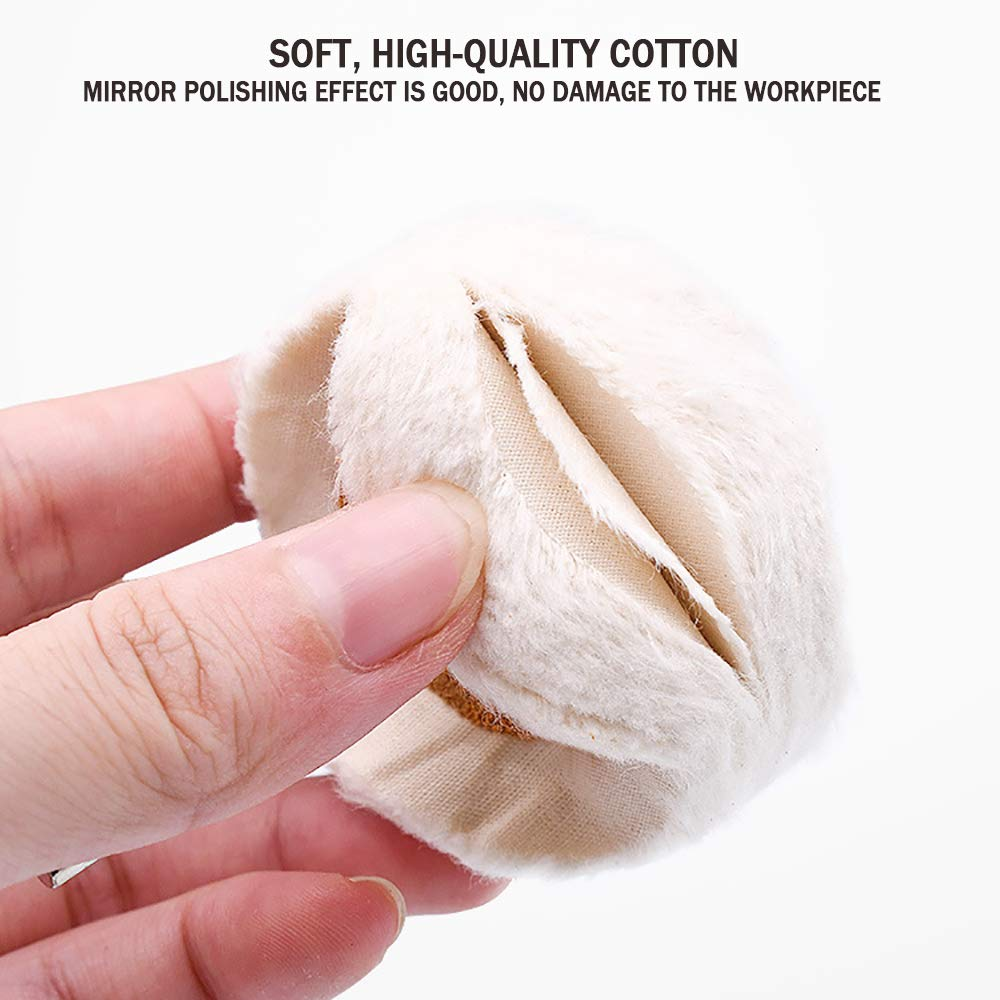 3 Inch /&5 Inch Professional Buffing Polishing Wheels Polishing Compounds Kit,Ultra Fine Cotton Buffing Polishing Wheel(50 Ply)1//5 Shank for Drill