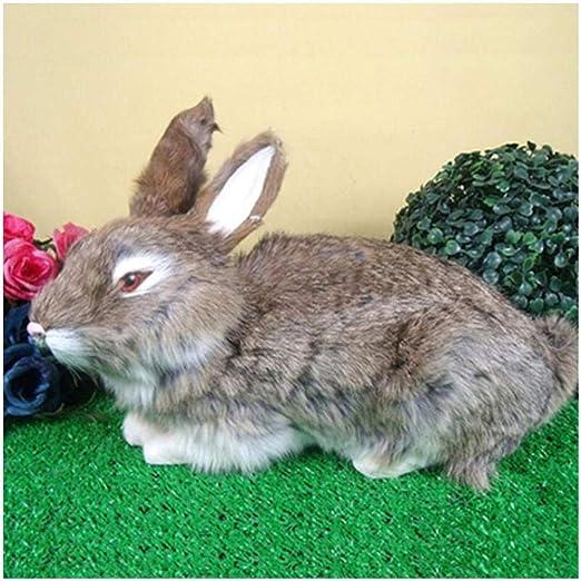 Escultura Animal Artificial Escultura de Animales de jardín Juguete Modelo de Conejo simulado - Conejos realistas Conejo Realista Artesanía cómoda - Modelo Animal de simulación de Felpa Realista Lind: Amazon.es: Jardín