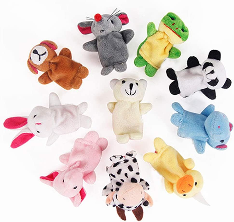 AchidistviQ - Juego de 10 Piezas de Conejo de Animales, Perro, Cachorros de Dedo para bebé, Juguete para Jugar