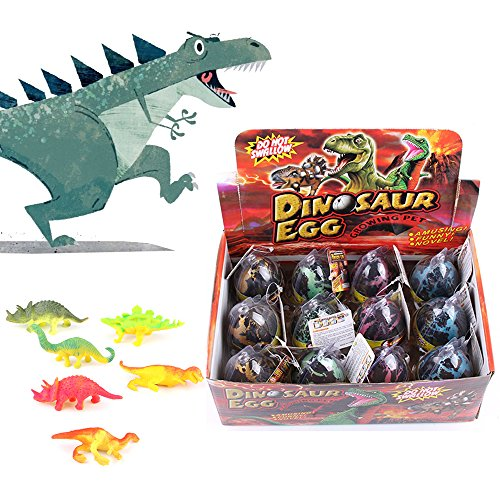 arge Size Hatching Grow Pet Dinosaur Eggs Colorful Mini Easter Dino Eggs for Kids, Adults (12 Pcs/ 1 Dozen) (1 Dozen Oatmeal)