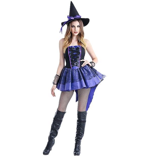 xiemushop Disfraz de Bruja para Mujer Cosplay Witch Costumes Traje Medival para  Halloween  Amazon.es  Ropa y accesorios 5793759a878