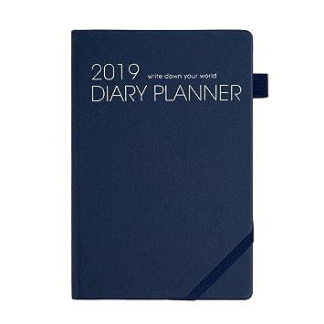 Agenda 2019, diario semanal, mensual y anual con papel para ...