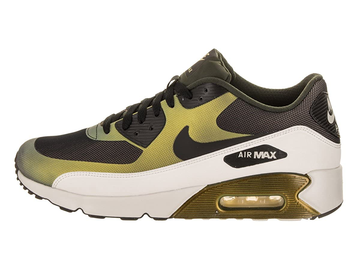 Nike Mens Air Max 90 Ultra 2.0 SE Running Shoes Pale Citron Black Bio Beige 876005-700 Size 9.5