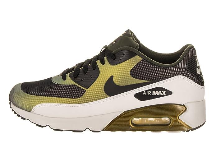 Nike Mens Air Max 90 Ultra 2.0 SE Running Shoes Pale CitronBlackBio Beige 876005 700 Size 10