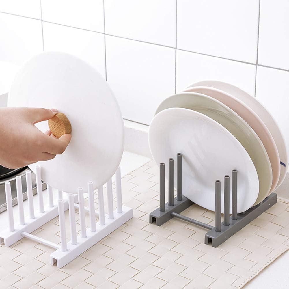 WUDI /Évier de Cuisine Plateau Organisateur de vidange /étag/ère /évier Vaisselle Plaques Porte-s/échage Porte-Rack Pot Couvercle Etendoir /évier /étag/ère Gris