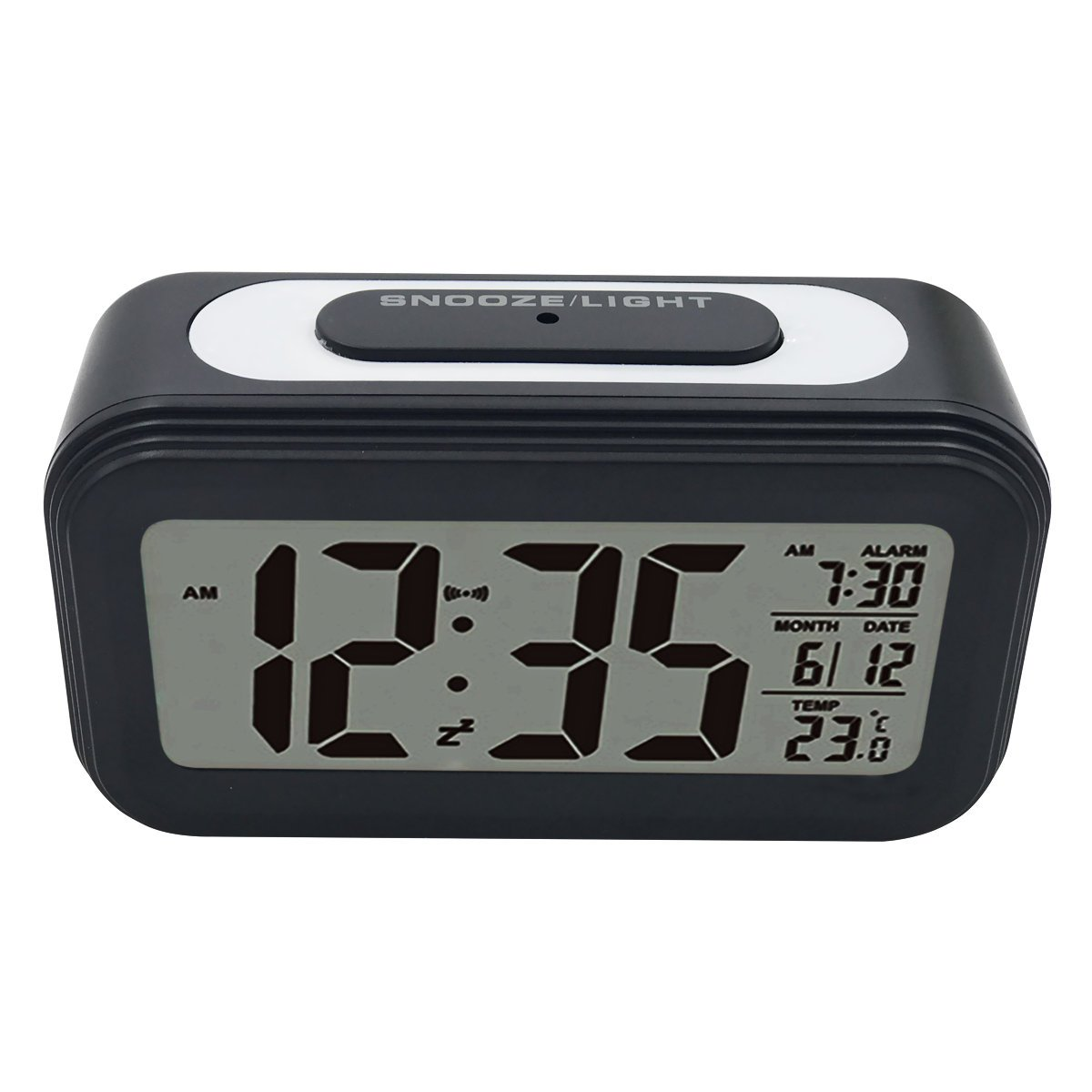 EASEHOME Reloj Despertador Digital, Relojes Despertadores Digitales Alarma Despertador Silencioso con Calendario Temperatura Reloj Alarma Función Snooze Luz ...