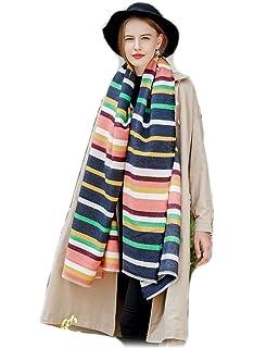 0962b4cd312 Femme Fille rayée rayures Extra Longue extra large Très Épais Écharpe Wrap  Châles Etole Glands Tassel