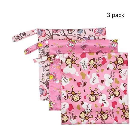 Hellohouse - Pack de 3 toallas menstruales lavables para toallas sanitarias