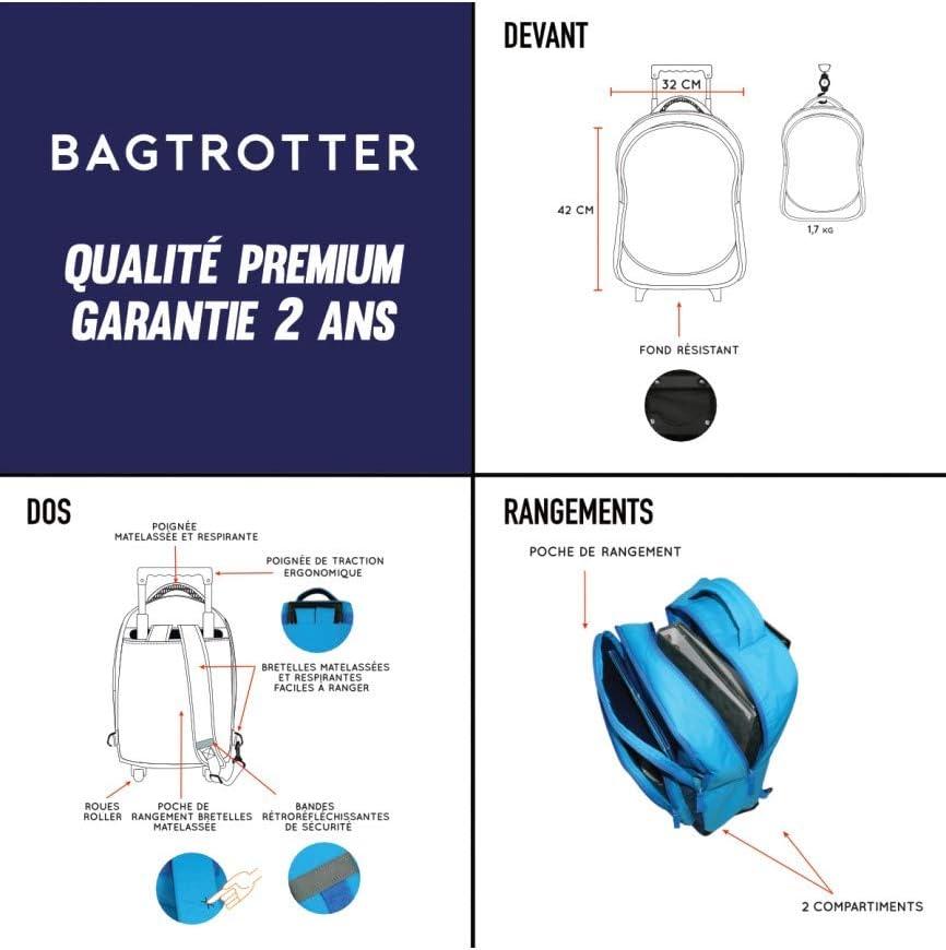 Bagtrotter Sac /à dos /à roulettes Hot Wheels Bleu Mattel