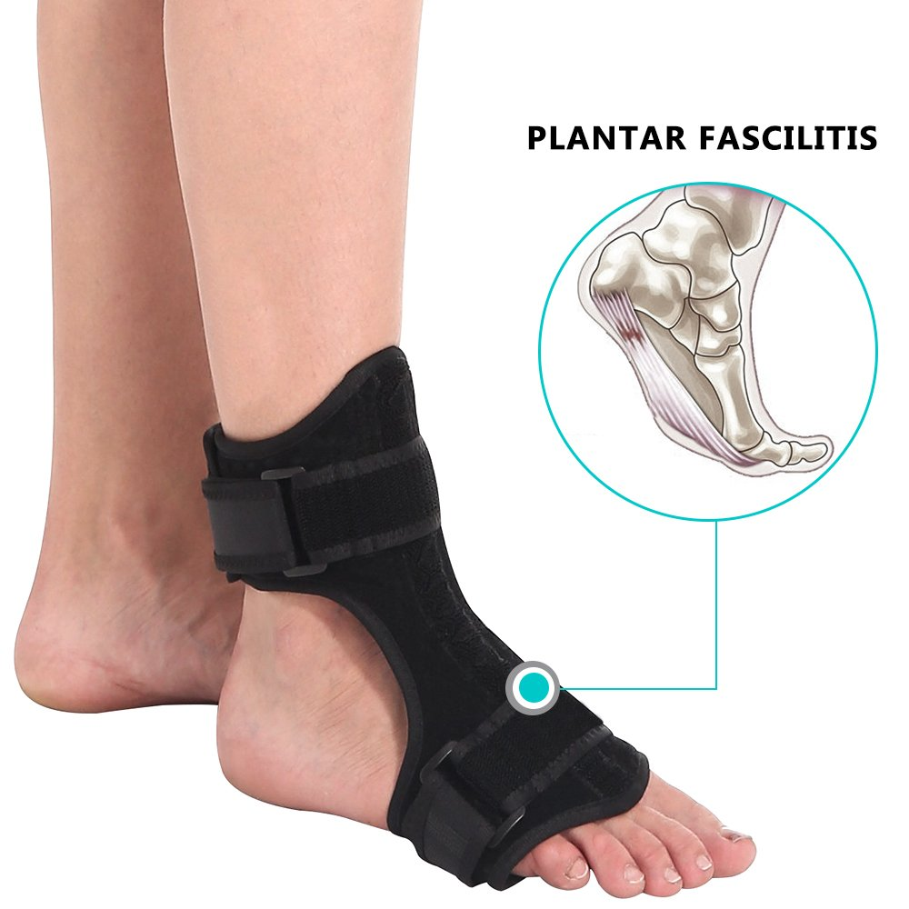 MS.Dear Plantar Fasciitis Night Splint for Men & Women, Dorsal Drop Foot Orthotic Brace Support, Ankle Brace & Arch Support, Fast Pain Relief, Adjustable Size, Fits for Most Foot Size