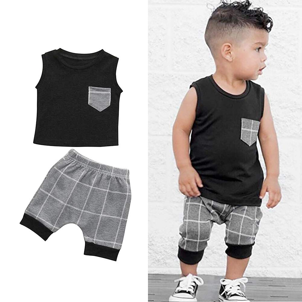 Shorts Pants Sets Summer Baby Boys Outfits Newborn Clothing Toddler Boy Clothes Vest Tops