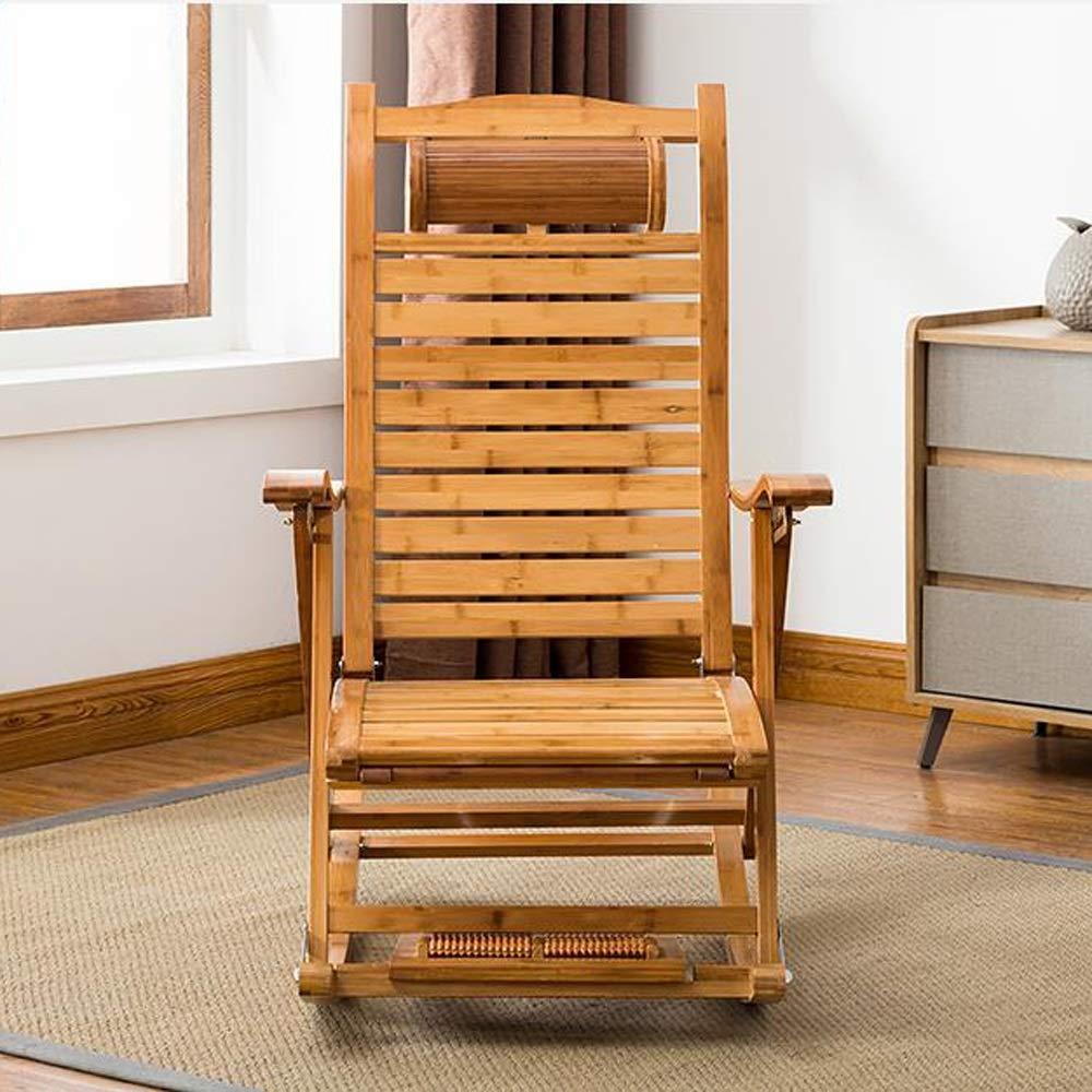 Amazon.com: Silla de balancín plegable de bambú para ...