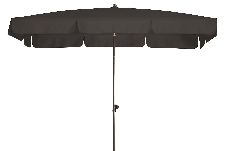 Absolut wasserdichter Gartenschirm Waterproof 185x120 von Doppler mit UV-Schutz 80, Farbe anthrazit