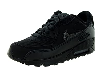 the best attitude 65ab5 44bb8 Nike Kids Air Max 90 Mesh (GS) Black Black Cool Grey Running