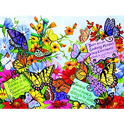 Butterfly Oasis 500 Piece Jigsaw Puzzle by SunsOut: Toys & Games