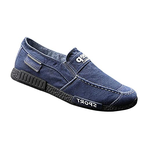 Yudesun Alpargatas Planas Gimnasio Zapatos Hombre - Hombre Slip On Cordones Lona Zapatos Resbalón Zapatillas Conducción Calzado Entrenadores Running ...