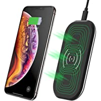 Fast Wireless Charger,CHOETECH 3 Coils 7.5W Fast Charger for iPhone XS/XS Max/XR/X /8 Plus/ 8,10W Fast Charging for Samsung Galaxy Note 9/S9/S9 Plus/S8/Note 9/S7/S7 Edge/S6 Edge Plus and 5W charing for AirPods and other Qi-Enabled Devices
