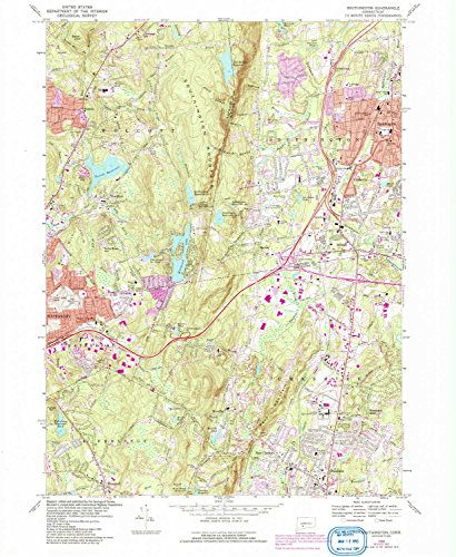 Southington CT topo map, 1:24000 scale, 7.5 X 7.5 Minute, Historical, 1968, updated 1992, 26.8 x 22 IN - - Field Marion West