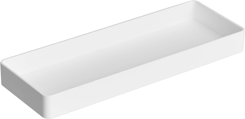 AmazonBasics Plastic Organizer - Half Accessory Tray, White