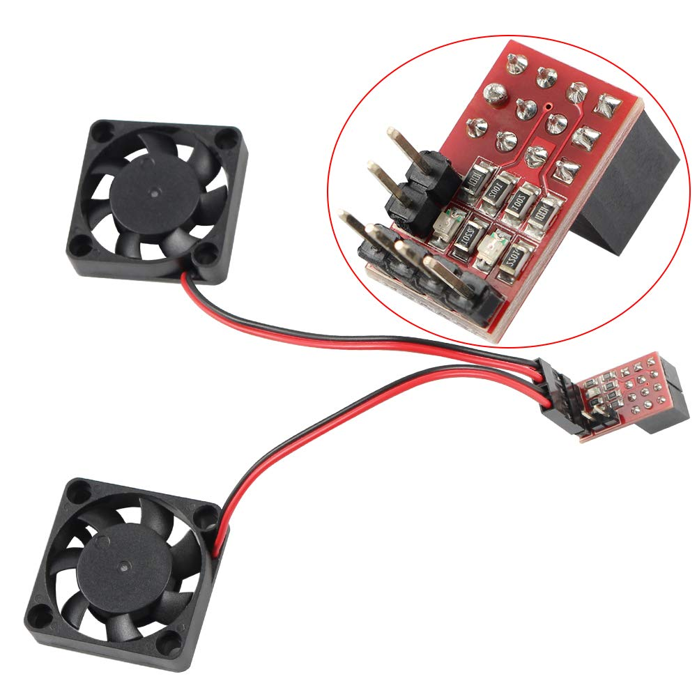 2Pcs FYSETC 3D Printer Parts Fan Extender Max 20V Expansion Module Board for CNC Prusa Anet Anycubic Creality Reprap Ramps 1.4 RRD Controller Board Accessories