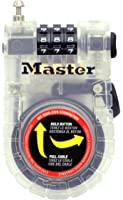 Master Lock 4605D 3-Foot Retractable Cable Lock (colors may vary)