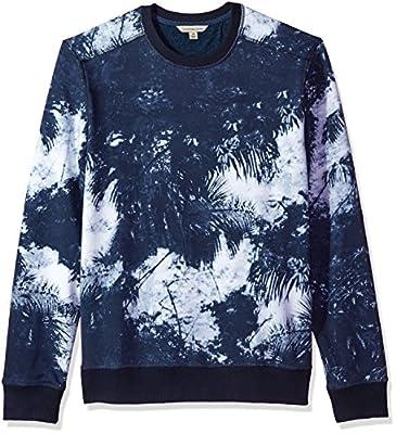 Calvin Klein Jeans Men's Palm Print Crew Neck Sweatshirt