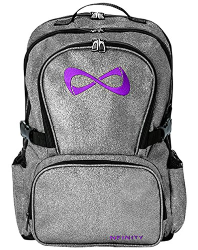 Nfinity Backpack with Logo, Sparkle Grey/Purple