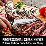 Hiware 48-Piece Silverware Set with Steak Knives