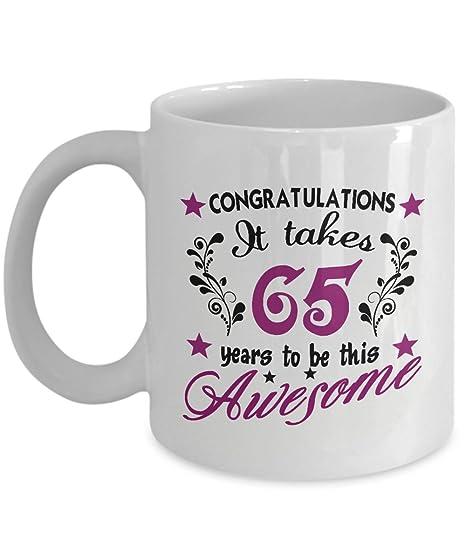 Amazon.com: Felicitaciones que tardan 65 años en ser este ...