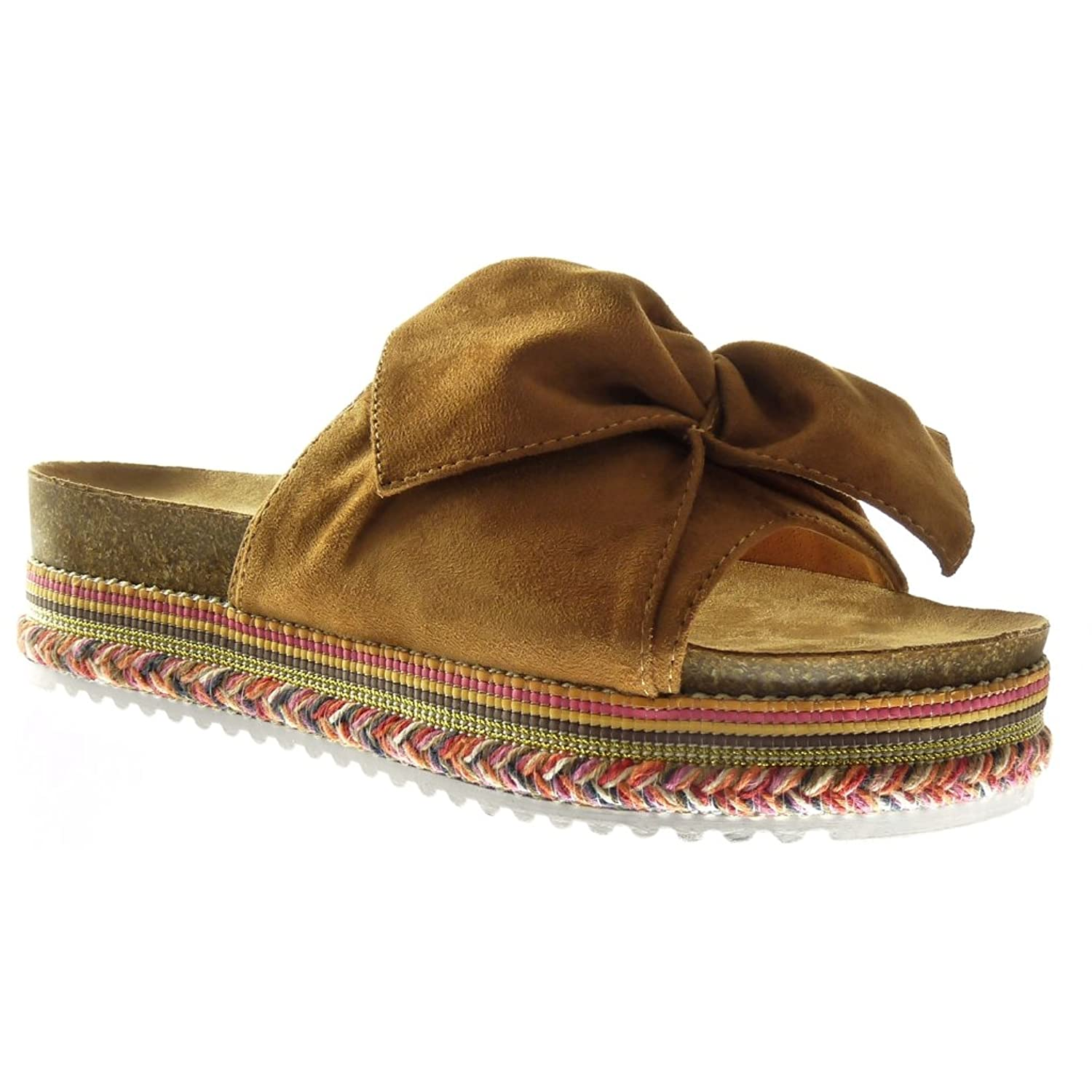 80%OFF Angkorly Chaussure Mode Sandale plateforme slip on
