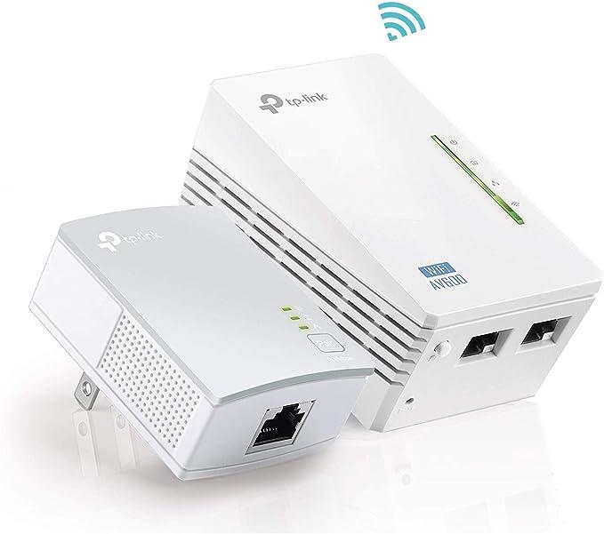 TP-Link AV600 Powerline WiFi Extender - Powerline Adapter with WiFi, WiFi Booster, Plug & Play,
