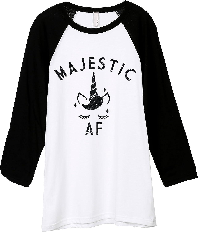 Thread Tank Majestic AF Unisex 3//4 Sleeves Baseball Raglan T-Shirt Tee White Black