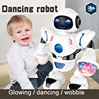 Toddler Multifunctional LED Lights Smart Robot Dance Music Kids Education Toys Awesome Astronaut Toy for Kids and Toddlers