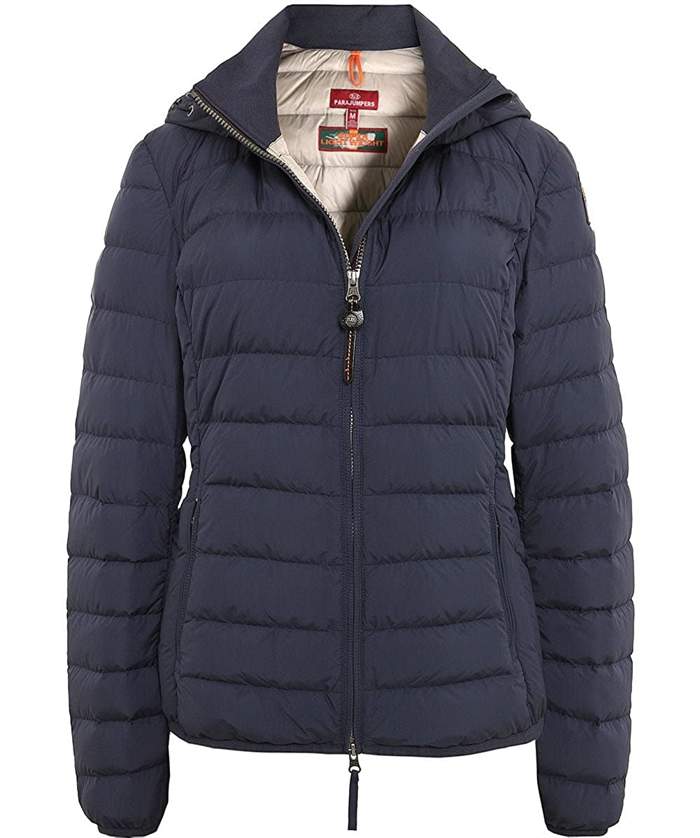 Parajumpers Juliet Womens Hooded Jacket Blue-Black L: Amazon.co.uk: Clothing