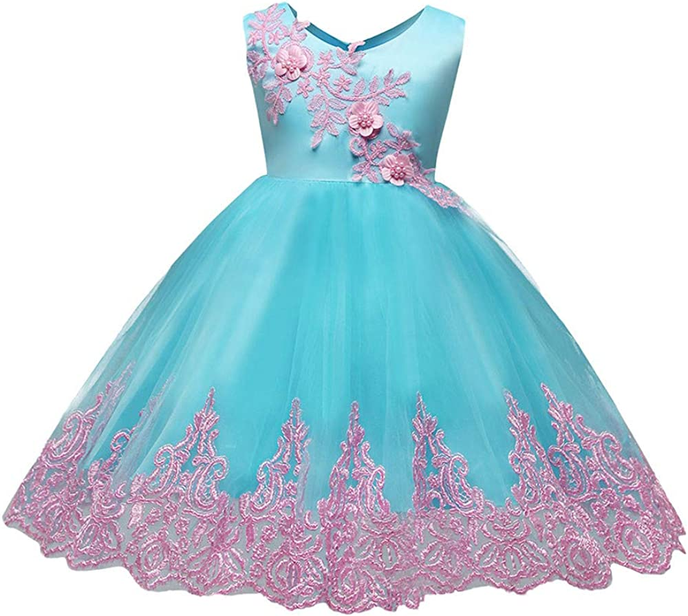 ❤ Mealeaf ❤ _ Girl Ball Gown Gauze Long Sleeve Lace Princess Flower Girl Pageant Wedding Party Long Dresses 0-5Years 61SJkkyEEmL