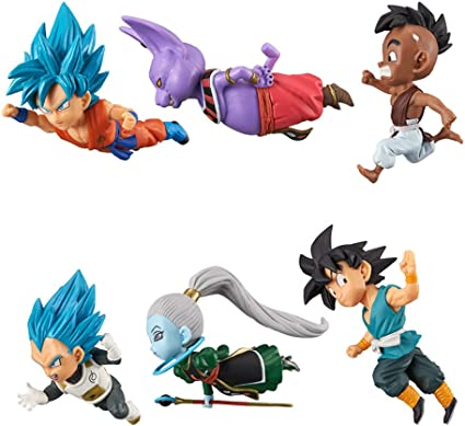 Set of 6 Dragon Ball Z DBZ Super WCF World Collectable 30th Vol.6 Figure In Box