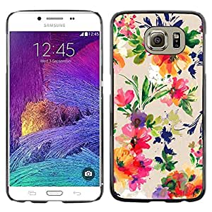 Paccase / SLIM PC / Aliminium Casa Carcasa Funda Case Cover para - Floral Art Flowers Vibrant - Samsung Galaxy S6 SM-G920