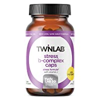 TwinLab Stress B-Complex Caps with Vitamin C - B Vitamin Energy Pills for Stress Relief & Immune Support for Men & Women - (250 Caps)