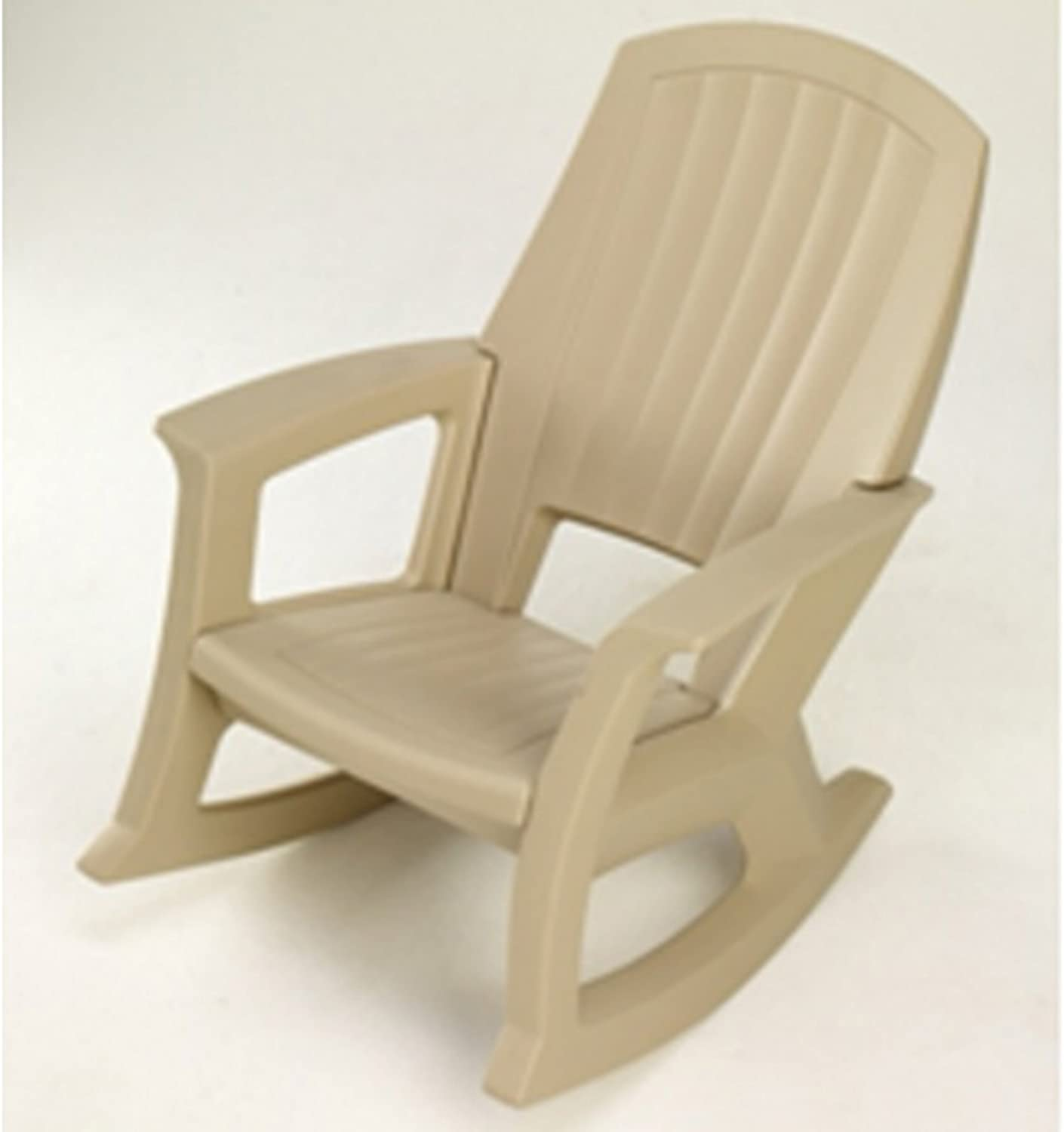 Semco Plastics SEMS Extra Large Recycled Plastic Resin Durable Outdoor Patio Rocking Chair, Sand Tan : Garden & Outdoor