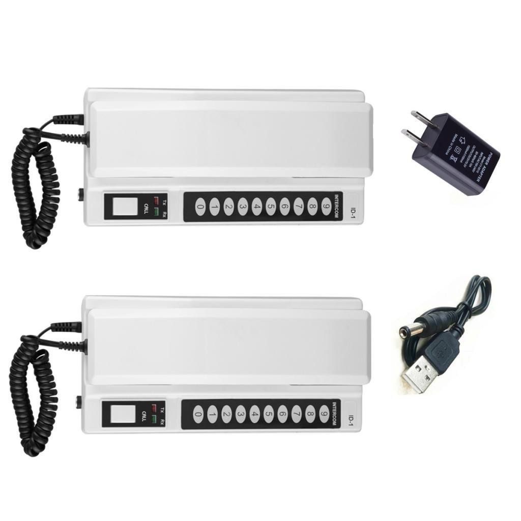 Baoblaze Set 2 Wireless Intercom System 433Mhz Secure Interphone Extendable US Plug